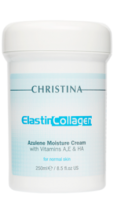 ELASTINCOLLAGEN AZULENE MOISTURE CREAM WITH VITAMINS A, E & HA FOR NORMAL SKIN